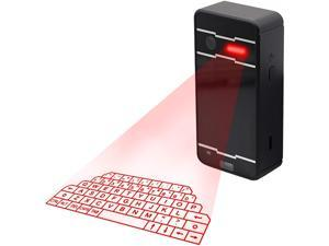 Cotonie Laser Keyboard,Virtual Projection Wireless Laser Bluetooth Portable Projection Keyboard for Smartphone PC Tablet Laptop (Black)