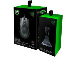 Razer Viper Ultralight Ambidextrous Wired Gaming Mouse + Mouse Bungee Bundle