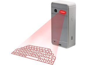 Laser Projection Bluetooth Virtual Keyboards, Projection Wireless Keyboard for Smartphone and Tablet (White)