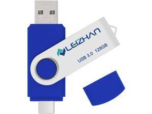 leizhan 128gb USB 3.0 Flash Drive for Samsung Galaxy S4 S5 S6 S7 HTC Nokia Moto Huawei Micro-USB 3.0 Pen Drive Blue
