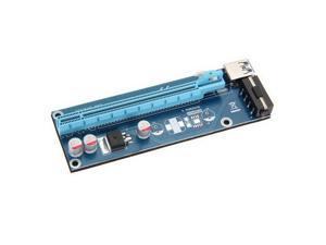 PCI-E 1x to 16x Powered USB 3.0 Extender Riser Adapter Card