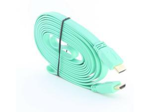 10Ft Flat Male to Male V1.4 HDMI Cable Cord for Audio Vedio HDTV TV 1080P