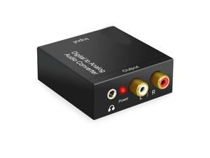 Digital to Analog Audio Converter Optical Coaxial In 3.5mm Aux RCA Out