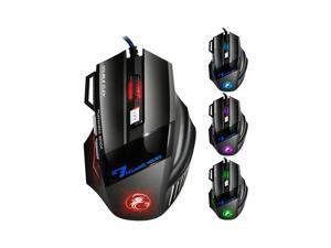 Gaming Mouse USB Optical 5500 Dpi LED 7 Buttons Wired Mice for Gamer Computer