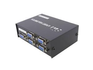 4 Port VGA SVGA Monitor Sharing Switch Box 4 In 1 Out For LCD PC TV Monitor LED