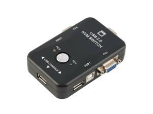 US 2 Port USB KVM Switch With 2 Cable for Mouse Keyboard Monitor LCD LED