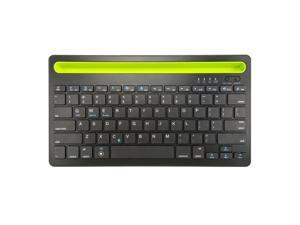 Bluetooth Keyboard Cordless with Phone Tablet Holder Docking Wireless Stand