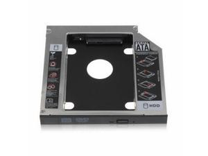 2nd Second Hard Drive Caddy Case For Notebook CD DVD-ROM Bay SATA 12.7mm