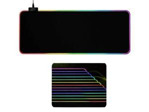 Gaming Mouse Pad RGB LED Light Color Switching For Computer Laptop Large