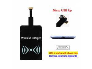Qi Wireless Charger Receiver Cordless Power for UP Micro USB Cell Phone