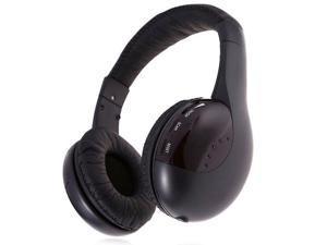 US Wireless Stereo Headset Microphone Cordless FM Radio For TV Hifi Music Audio