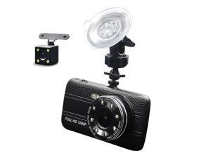 Dash Cam Driving Recorder DVR Dual Camera 4 Inch LCD Vehicle Black Box Monitor