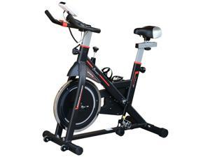 Upright Stonary Exercise Bike Indoor Cycling Bike w/ LCD Monitor