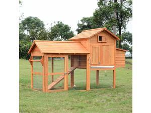 "CYBER MONDAY SALE 82"" Deluxe Backyard Wood Chicken Coop Rabbit Hutch"