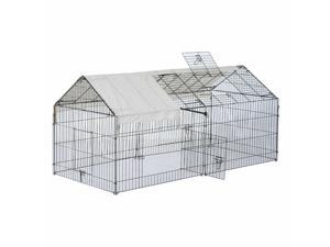 Metal Small Animal Enclosure Outdoor Pet Cage Rabbit Bunny Dog Protective Cover