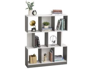 3-Tier Wooden Bookcase Display Shelves Storage Unit Home Office Decor