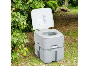 Outdoor Portable Toilet Detachable Tank Easy to Use Level Indicator Camping