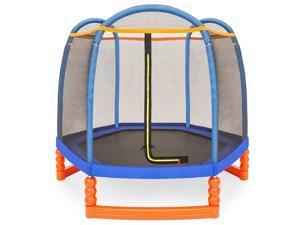 Kids Trampoline Outdoor Children Bouncer Jumper W/ Safety Net Gym Play