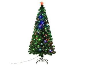 Christmas Tree 6' Fiber Optic LED Artificial Christmas Tree Pre-lit Home Décor