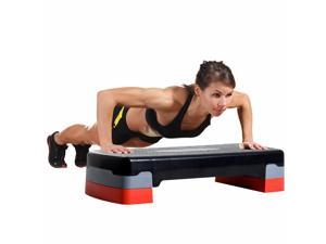 """27"""" Aerobic Stepper Adjustable Workout Platform Fitness Step with Riser"""