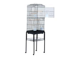"""CYBER MONDAY SALE 63"""" Large Rolling Bird Cage  Cockel Play"""