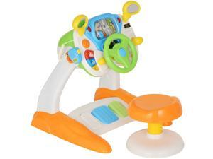 Simulated Cab Set With Stool Driving Game Steering Wheel 3 Years Kids ABS