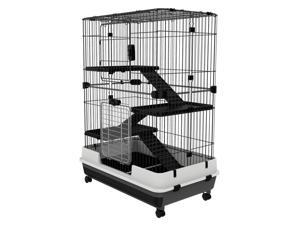 CYBER MONDAY SALE 3 Tier Rabbit Cage Chinchilla Ferret Crate Habitat Pull Out