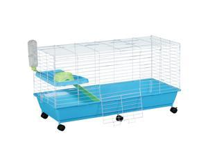 Small Animal Pet Cage Play House with Essentials Rolling
