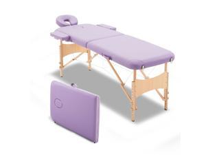 Massage Table Bed Spa Facial Couch Table Adjustable Foldable w/ Free Carry Case