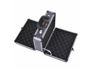 Double Locking Sided Hard Pistol Hand Case Safe Carry Storage Box w/ Code Set