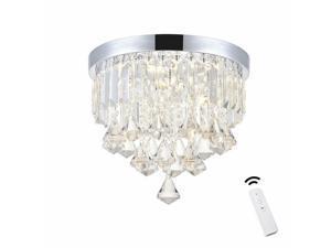 Smart LED Ceiling Crystal Chandeliers Modern Flush Mount Ceiling Light