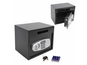 Wall Mounted Electronic Digital Safe Box W/ Keypad Lock  Cash Home Security