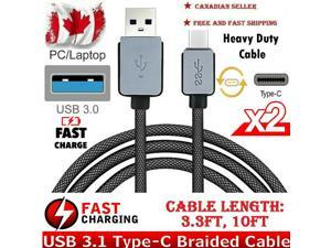 Fast Charge Charging Cable USB-C Type-C  Galaxy Note 10 20 Braided Sync