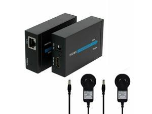 1080P HDMI Extender Over Single Network Cable CAT5E CAT6 Ethernet Lan RJ45 60M