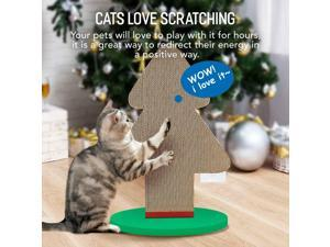 Cat Scratching Post Lounge Relaxing Tree Cat Scratcher Cardboard
