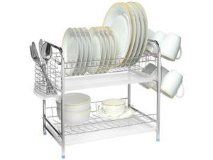 Multi-function Stainless Steel Dish Drying Rack,Cup Drainer Strainer For Home