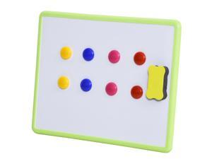 """14""""x11"""" Tabletop Whiteboard Dry Erase Board 1 Eraser and 8 Magnets"""