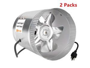 8 Inch 420 CFM Booster Inline Duct Vent Blower Exhaust  Intake HVAC Fans