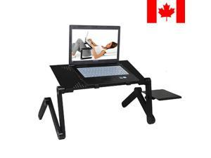 Portable Aluminum Laptop Table Stand with Mouse Pad Fully Adjustable Mount
