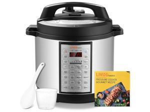 6 Qts Pressure Cooker, 18-in-1 Multi-Use Programmable Rice cooker Home Kitchen