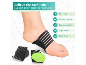 2 Pairs Arch Support Foot Cushion Pads Compression Massager for Flat Feet Green