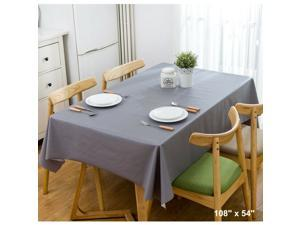 Wipe Clean PVC Vinyl Tablecloth Dining Kitchen Table Cover Protector Party Decor