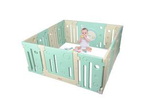 Baby Playpen Kids 14 Panel Activity Centre Safety Home Play Yard Outdoor Indoor