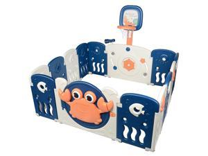 Baby Playards Kid 14 Panel Activity Centre Safety Infant Portable Playpen Indoor