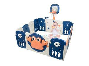 Portable Baby Playards Kid 14 Panel Activity Centre Safety Infant Playpen Indoor