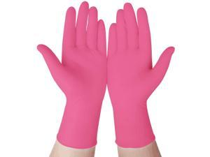 100pcs Nitrile Home Gloves, Disposable, Latex-free For Food Handling Random Color