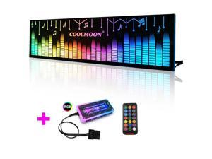 COOLMOON Power Compartment Light Board RGB Decorative Light Panel for Computer Cases With Remote Control