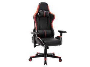 New High Back Swivel Chair Racing Gaming Chair Office Chair With Armrests & Pillows & Casters
