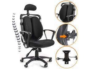 Ergonomic Office Chairs Computer High Back Swivel Chairs with Adjustable Headrest & Back Support