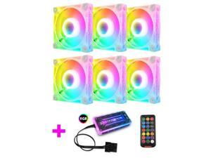 COOLMOON RGB Case Fans,120mm Square Diamond Silent Computer Cooling PC Case Fan, RGB Color Changing LED Fan with Remote Control
